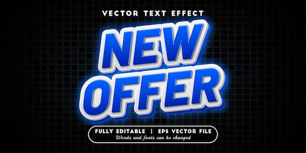 New offer text effect with editable text style