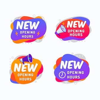 Nuovo pacchetto di cartelli orari di apertura