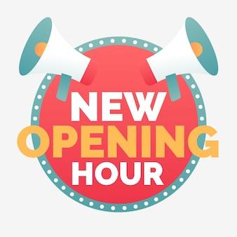 Nuovo segno orario di apertura