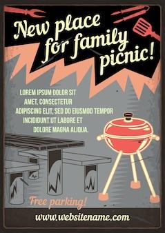 Nuovo posto per picnic in famiglia
