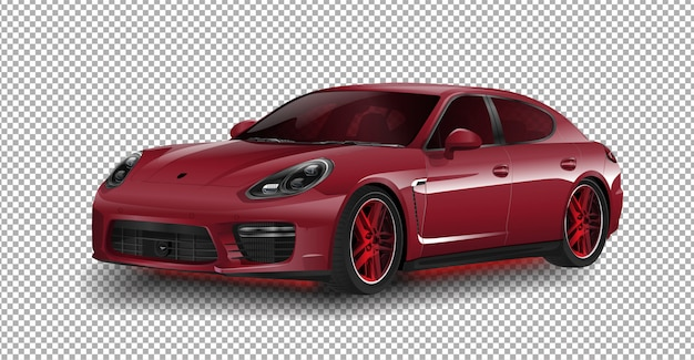 New porsche 911 gt3 sports car porsche vector illustration