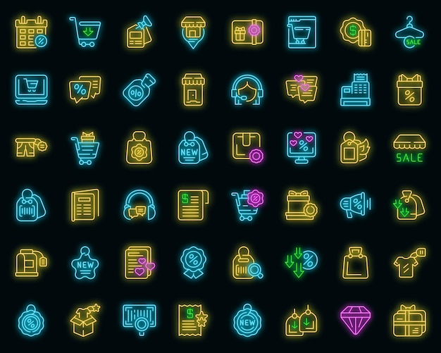New price icons set outline vector. sale discount. fire new deal