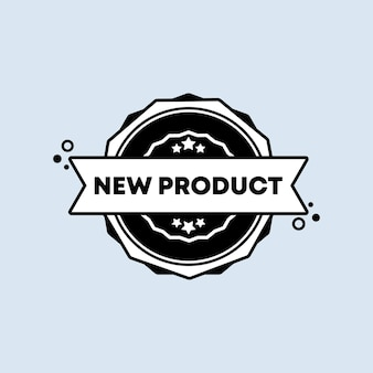 New product badge. vector. new product stamp icon in black. certified badge logo. stamp template. label, sticker, icons.