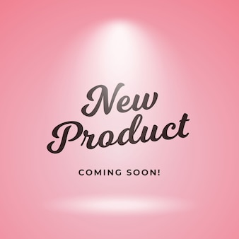 New product coming soon poster background design