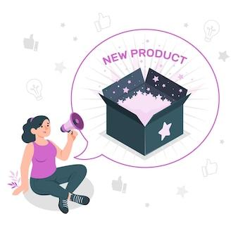 Nuova illustrazione del concetto di prodotto