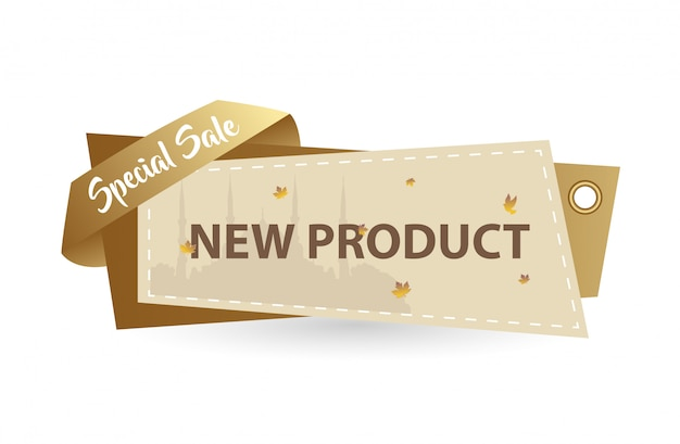 New product gold card banner