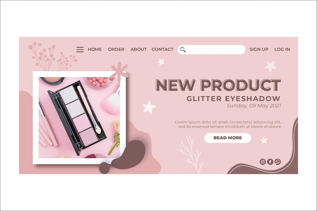 New product make-up landing page