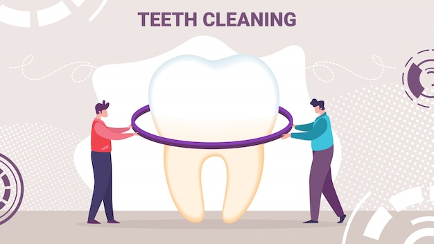 New product for oral hygiene flat banner