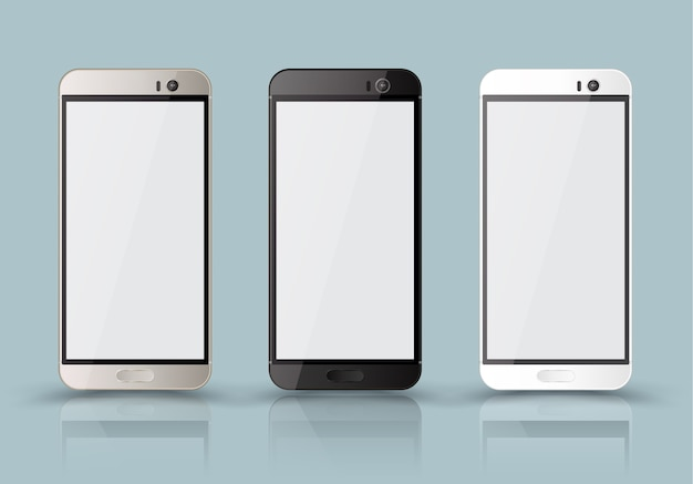 New realistic mobile phone smartphone collection mockups