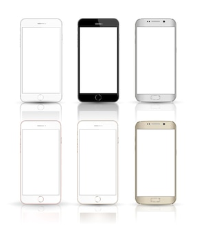 New realistic mobile phone smartphone collection