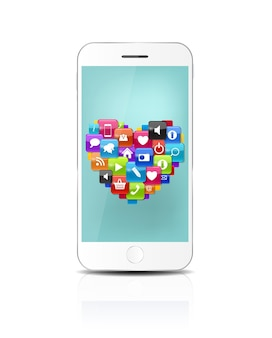 블루 스크린과 함께 새로운 현실적인 휴대 전화입니다. 벡터 일러스트 레이 션. eps10
