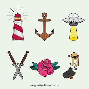 새로운 복고풍 문신 컬렉션