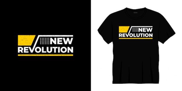 새로운 혁명 타이포그래피 티셔츠 디자인