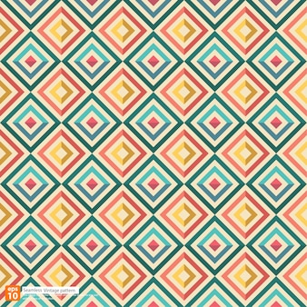 New seamless vintage colorful pattern