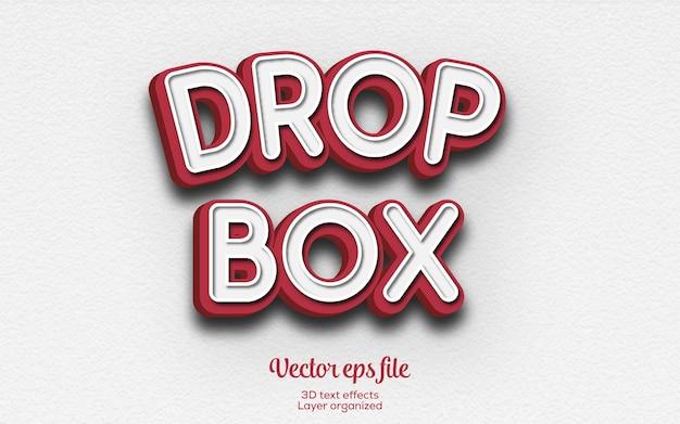 新規販売のdropboxベクター3dテキスト効果