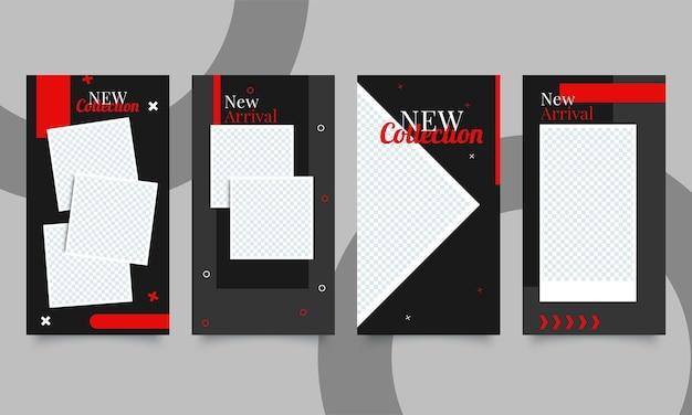 Nuovo set di modelli di banner minimi modificabili