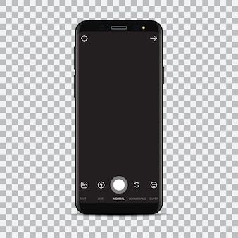 New smartphone with camera application.