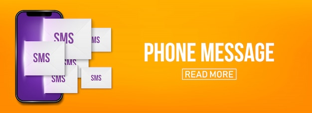 New sms or email notification on mobile phone.