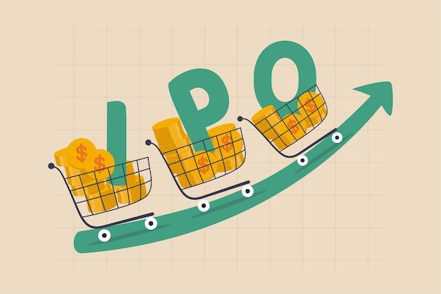 新株ipo、証券取引所市場のコンセプトで取引するために公開される新規株式公開会社