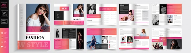 New style & exclusive fashion brochure  template. .