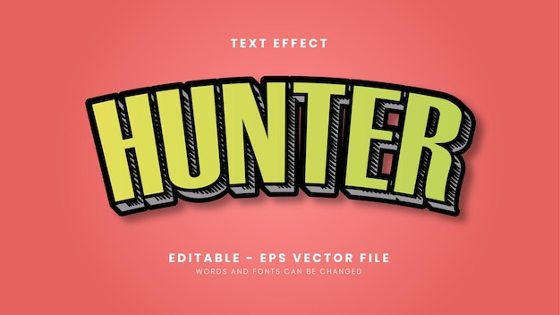 New style hunter text effect