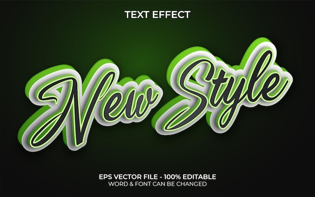 New style text effect theme editable text effect