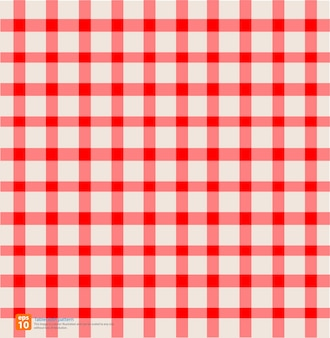 New table cloth red vintage color - seamless vector design