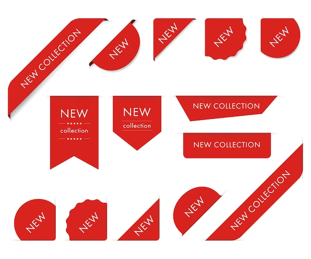 New tag ribbon and banner vector.