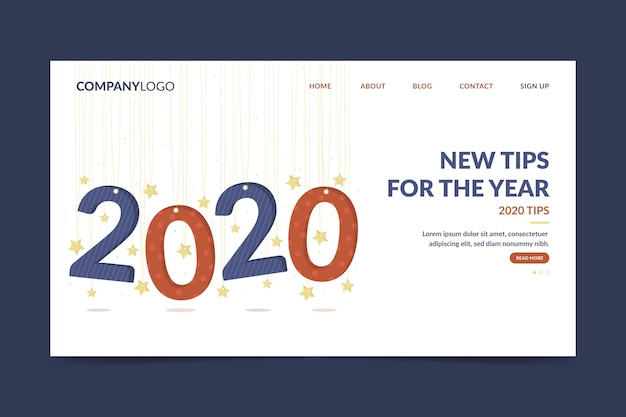 New tips for the year 2020 landing page