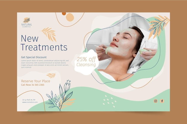 New treatments banner template