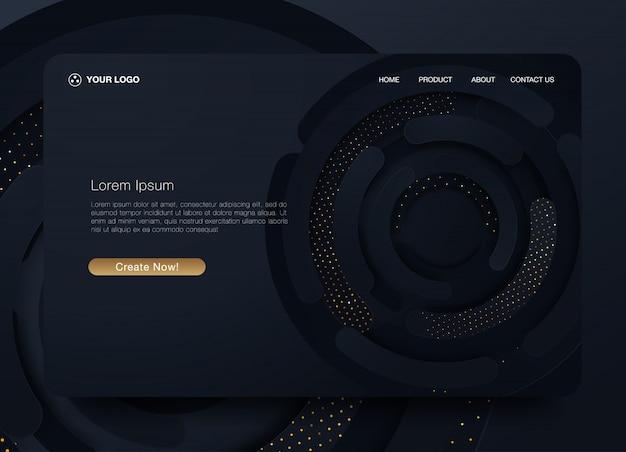 New trendy landing page website vector template design