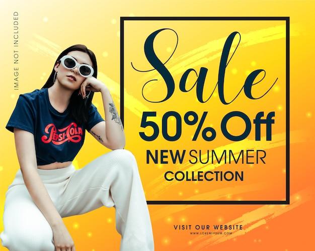 New trendy summer sale banner design vector