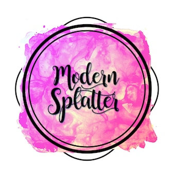New Watercolor Modern Splatter Banner
