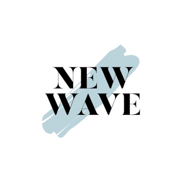 New wave typography logo vector