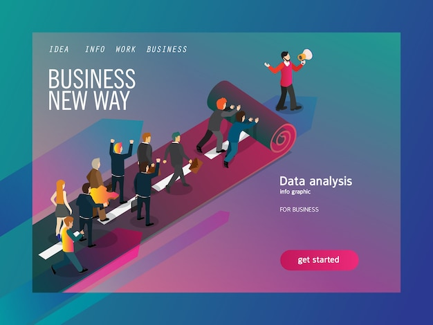 New way for business isometric