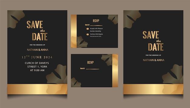 新しい結婚式の招待状のテンプレート