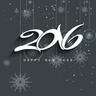 New year 2016 background in gray color
