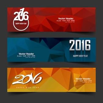 New year 2016 headers