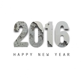 New year 2016 textured text design