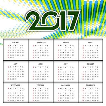 Nuovo anno 2017 del calendario design colorato