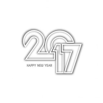New year 2017, geometric style