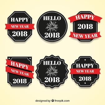 2018年新年のバッジコレクション、黒