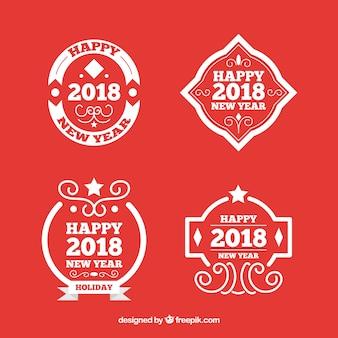 La nuova collezione di badge 2018 in rosso
