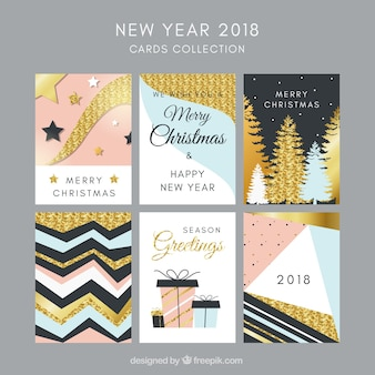New year 2018 beautiful cards collection