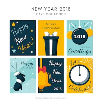 New year 2018 card collection