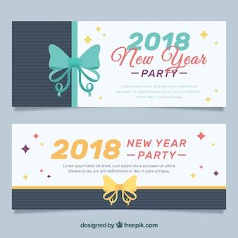 Nuovo anno 2018 banner del partito