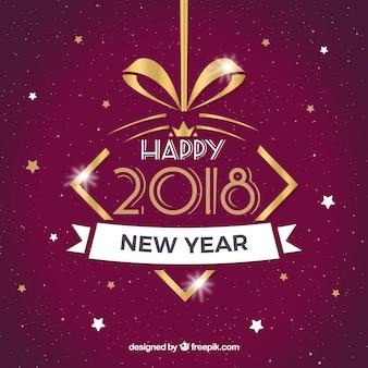 New year 2018 retro background