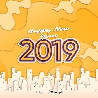 New year 2019 background paper style