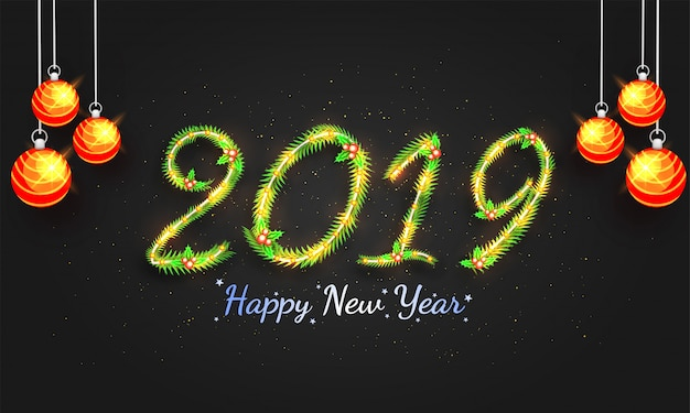새해 2019 배경