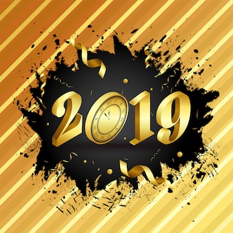 New year 2019 background.